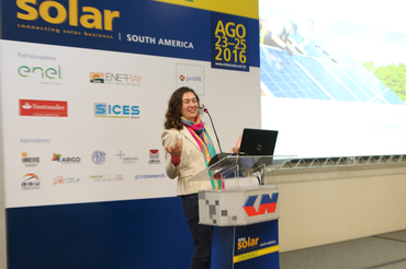 Paula Scheidt Manoel (Project Manager GIZ) presented at Intersolar South America's Study Program