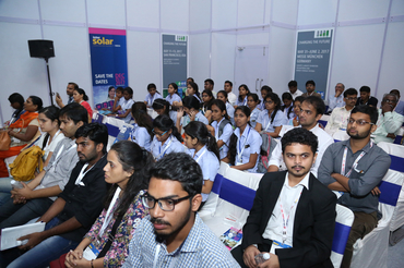Students listening attentively to the speeches at Intersolar India's Study Program 2016